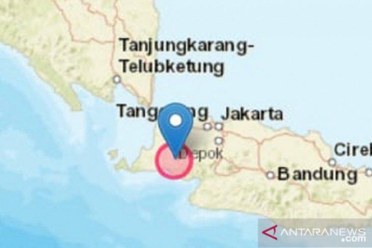 Getaran gempa berpusat di Rangkasbitung terasa hingga Sukabumi