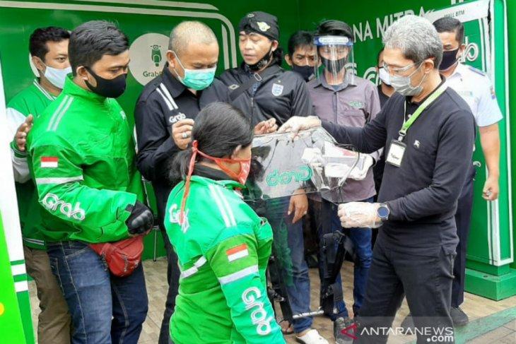 Dedie A Rachim ingatkan Ojol Grab di Kota Bogor terapkan protokol kesehatan