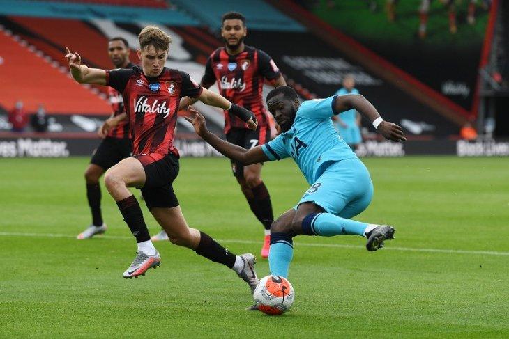 Tahan imbang Tottenham, Bournemouth petik poin  perdana sejak pandemi