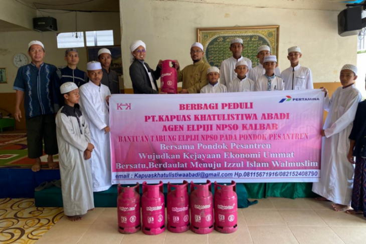 PT Kapuas Khatulistiwa Abadi bantu elpiji untuk pesantren di Kalbar