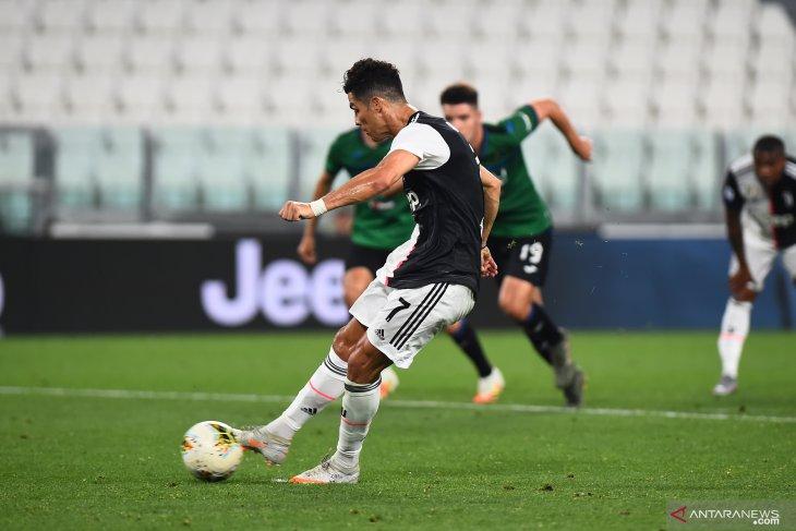 Dua gol penalti Ronaldo, Juventus vs Atalanta hasil imbang