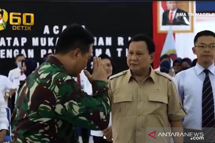 Menhan   Prabowo Subianto bekali kepemimpinan pada pendidik Taruna Nusantara