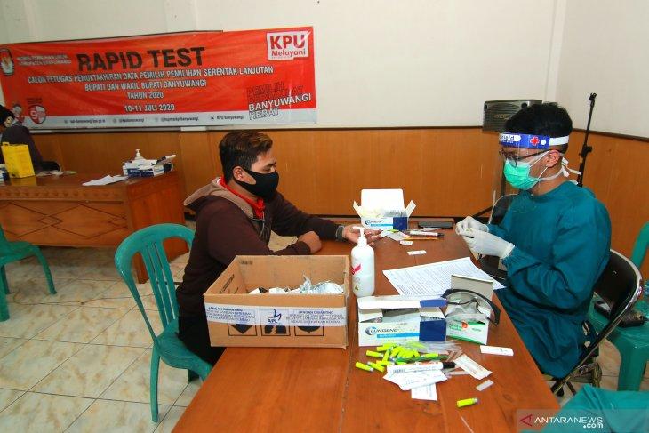 Rapid test anggota PPDP KPU Banyuwangi