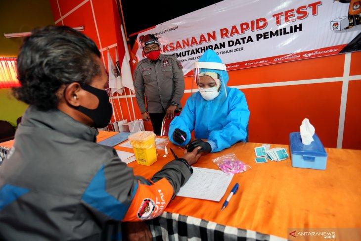 Rapid test petugas PPDP Pemilu serentak 2020