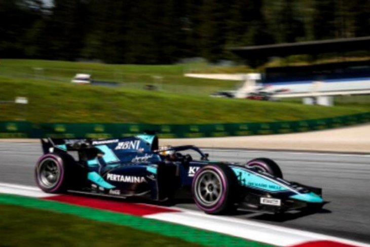 Pebalap F2 Indonesia Sean Gelael finis sepuluh besar di GP Styria