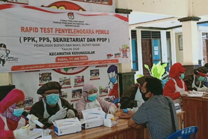 2.640 penyelenggara Pilkada Ngawi 2020 jalani rapid test