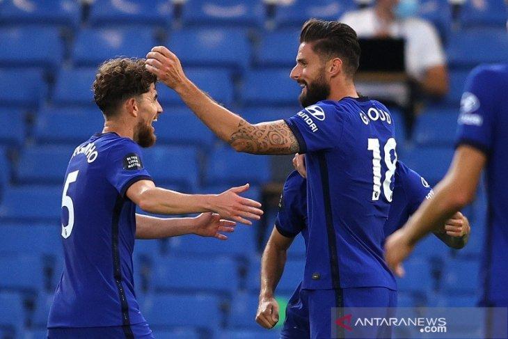 Gol tunggal Olivier Giroud bawa Chelsea ke posisi tiga besar