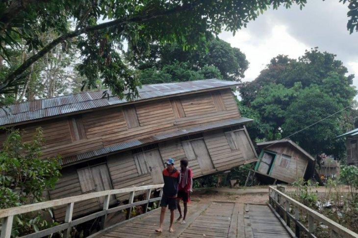 61 rumah di Kayan Hulu terseret banjir