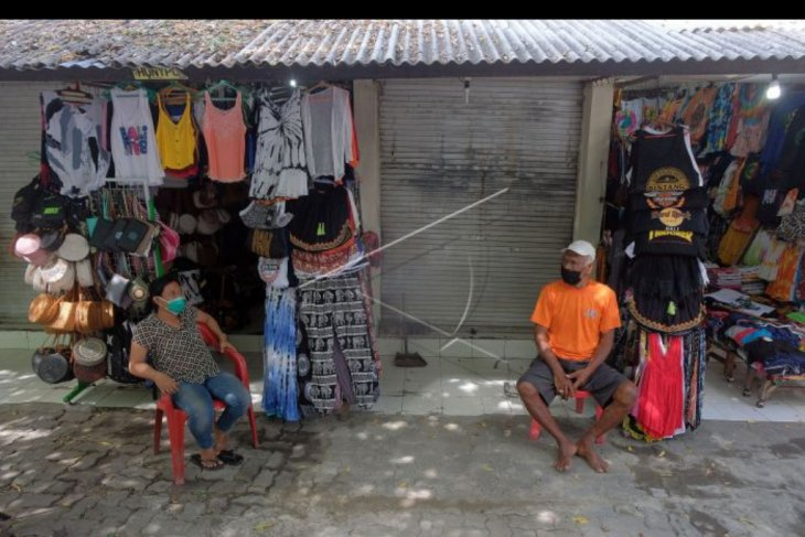 Penerapan ganjil genap di Pasar Seni Kuta