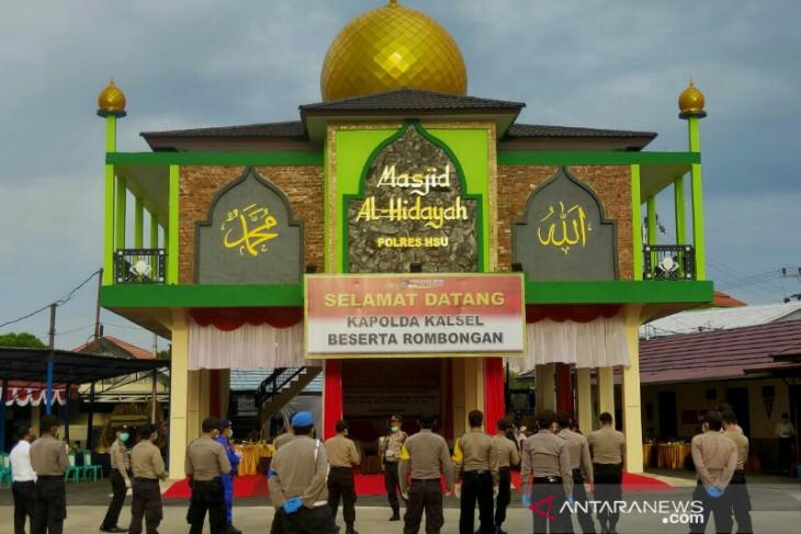 Kapolda resmikan Mesjid Al Hidayah Polres HSU