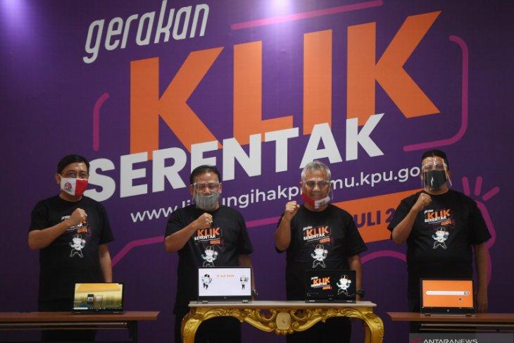 KPU meluncurkan gerakan coklit dan gerakan klik serentak