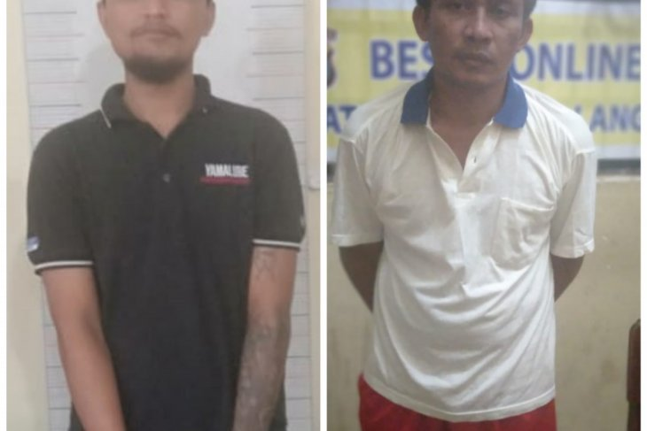 Dua tersangka pelaku pencurian ditangkap Unit Pidum Satreskrim Polres Langkat