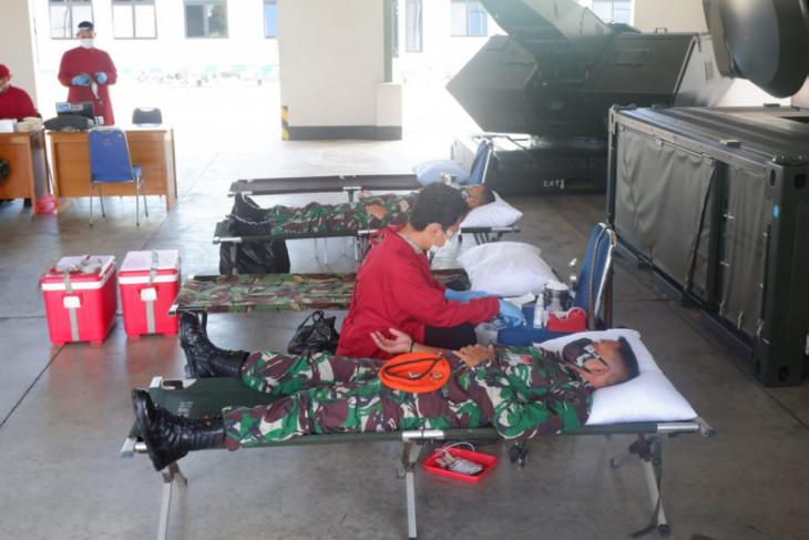 Denhanud 473 Paskhas Lanud Supadio Pontianak gelar donor darah