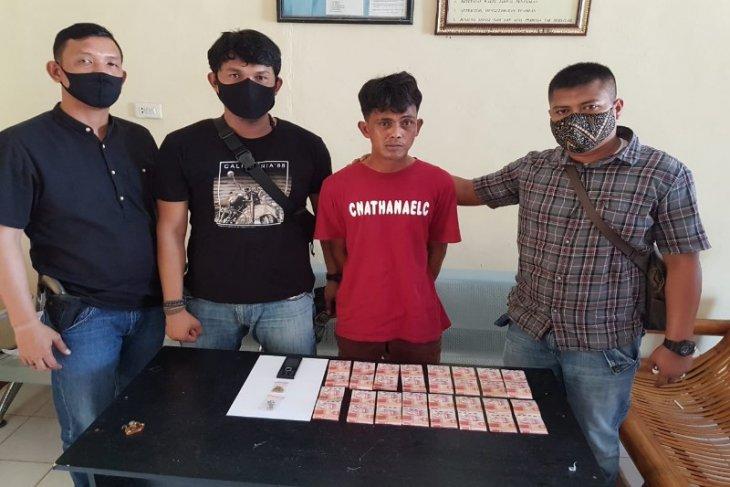 Polsek Pangkalan Susu Langkat tangkap pelaku pencurian yang sebelumnya cairkan uang dari ATM