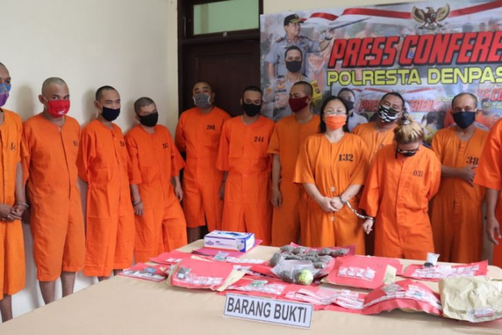 Polresta Denpasar tangkap 16 tersangka kasus narkotika