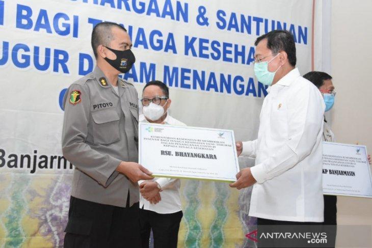 Rumah Sakit Bhayangkara Banjarmasin dapatkan insentif tenaga kesehatan dari Menkes