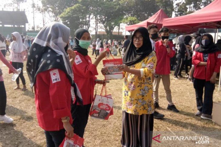 PMI Cianjur lakukan sosialisai protokol kesehatan di objek wisata