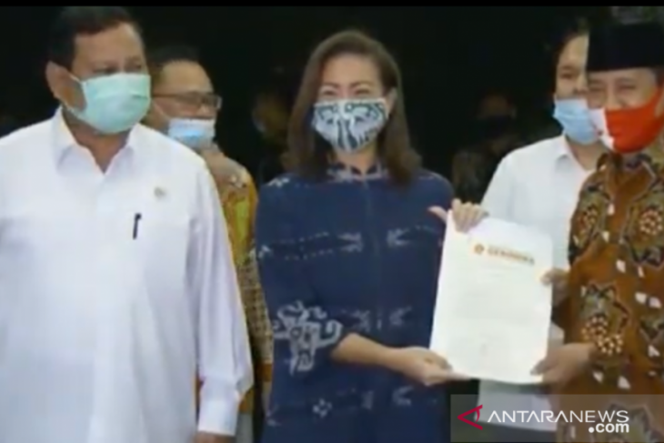 Ketum Gerindra, Prabowo restui Muhammad-Sara maju Pilkada Tangsel 2020
