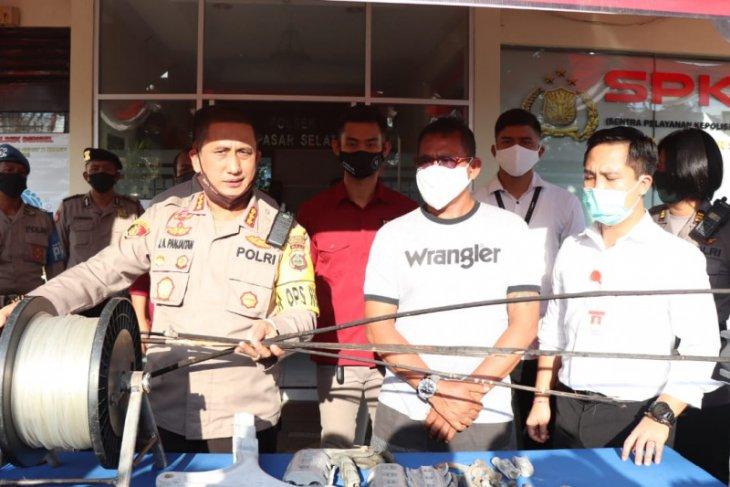 Polisi Denpasar tangkap pemilik layangan yang ledakkan gardu listrik