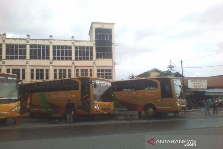 Terminal KM-6 Banjarmasin sepi, bus AKAP belum beroperasi