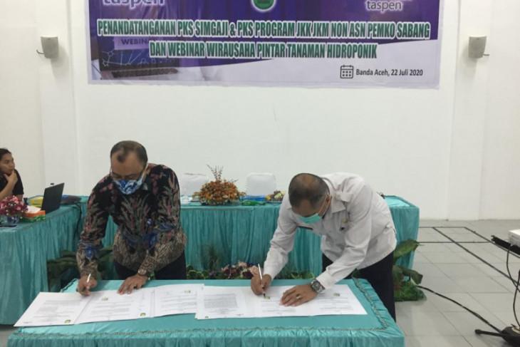 Tingkatkan perlindungan pegawai non ASN, Taspen dan Pemko Sabang tandatangani kerja sama