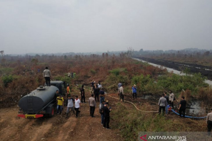 BRG conducts rapid wetting to prevent land and forest fire in S Kalimantan