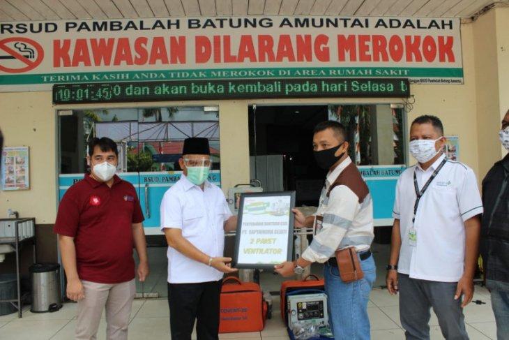 RSUD Pambalah Batung Amuntai terima bantuan ventilator dari PT SIS