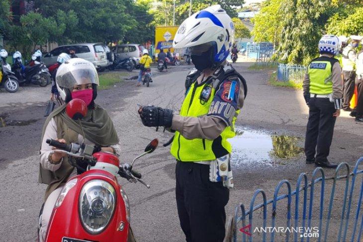 Polisi: Pengendara tak gunakan masker diberi peringatan