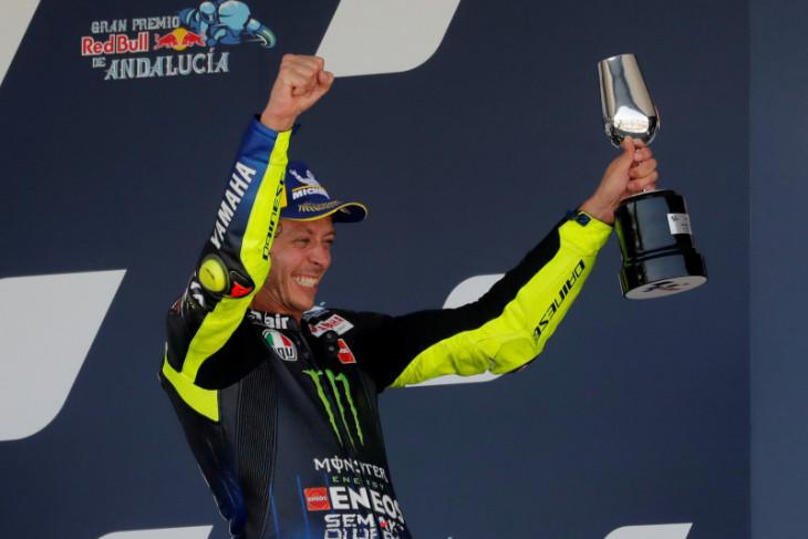 Rossi rasakan sensasi  podium yang menyerupai kemenangan