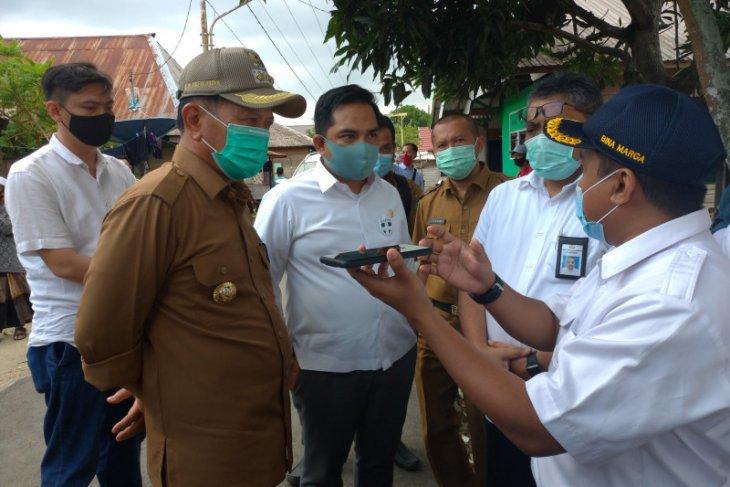 Bupati dampingi anggota Komisi V DPR RI pantau rencana lokasi pembangunan gunakan dana APBN