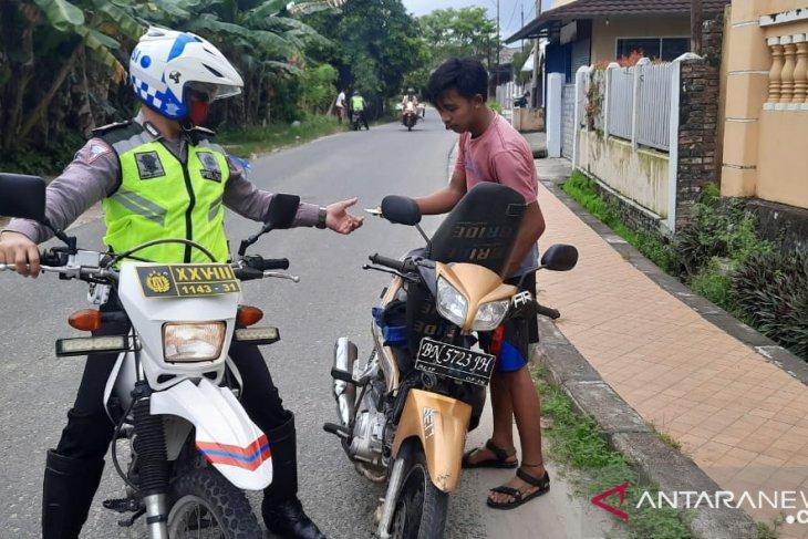 Satlantas Polres Bangka amankan 19 kendaraan roda dua