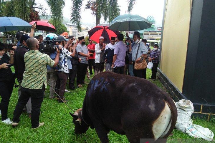 DPRD Maluku serahkan bantuan hewan kurban ke Masjid Raya Al-Fatah Ambon