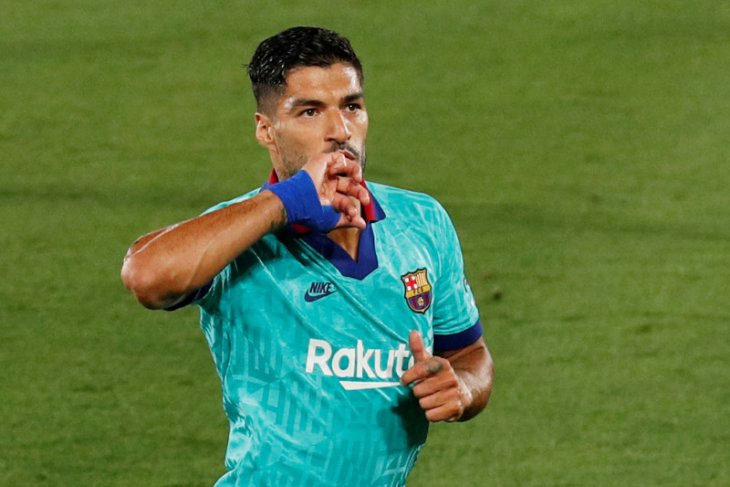 Luis Suarez menangis saat berpamitan dari Barcelona