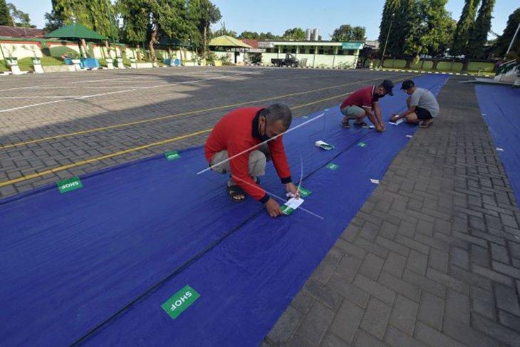 Persiapan protokol kesehatan sholat Idul Adha di Denpasar
