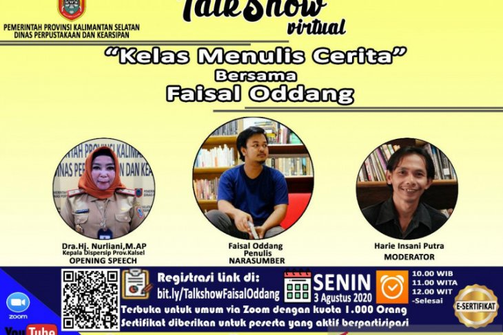 S Kalimantan's Library features Faisal Oddang in story writing class