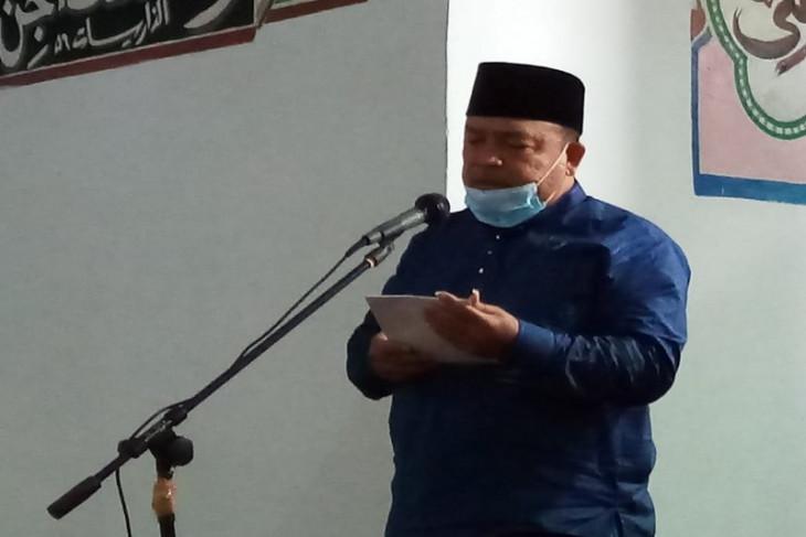 Bupati Terbit sholat Idul Adha di Masjid Jamik Ar-Rohman