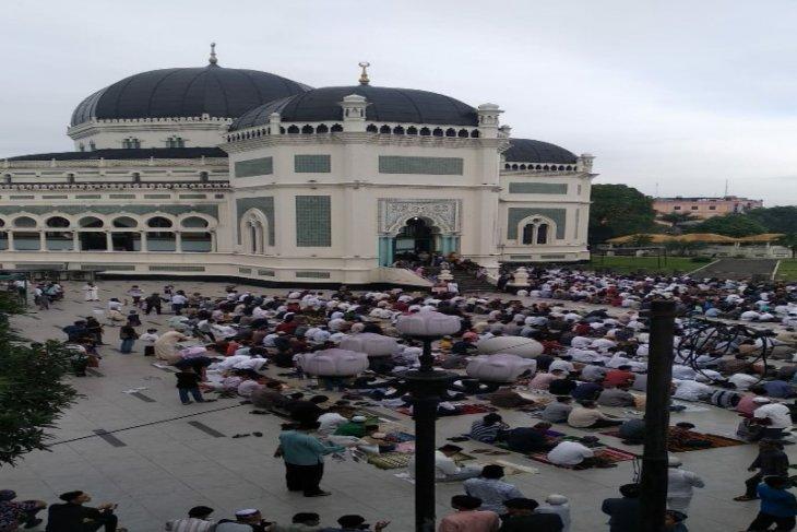 Shalat Idul Adha di Medan jalankan protokol kesehatan
