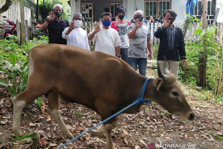 Indocement serahkan sapi untuk kurban kepada awak jurnalis