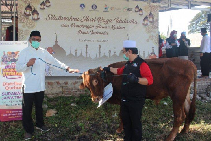 ACT-BI Jatim salurkan daging kurban pada warga terdampak COVID-19