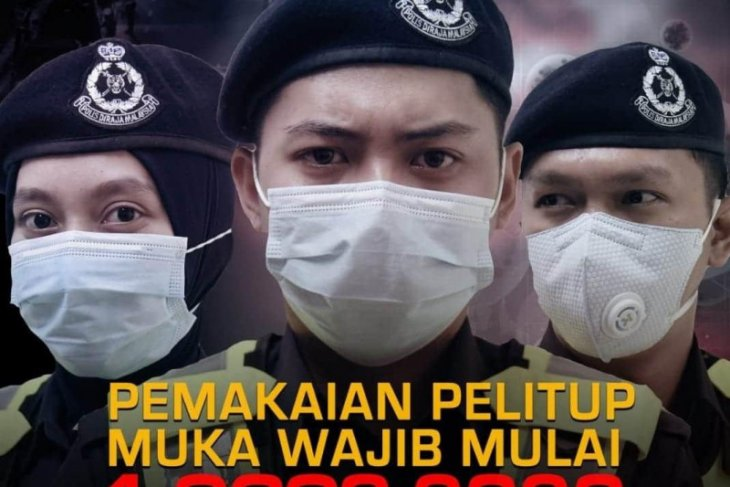 Malaysia terapkan wajib masker berdenda Rp3,4 juta