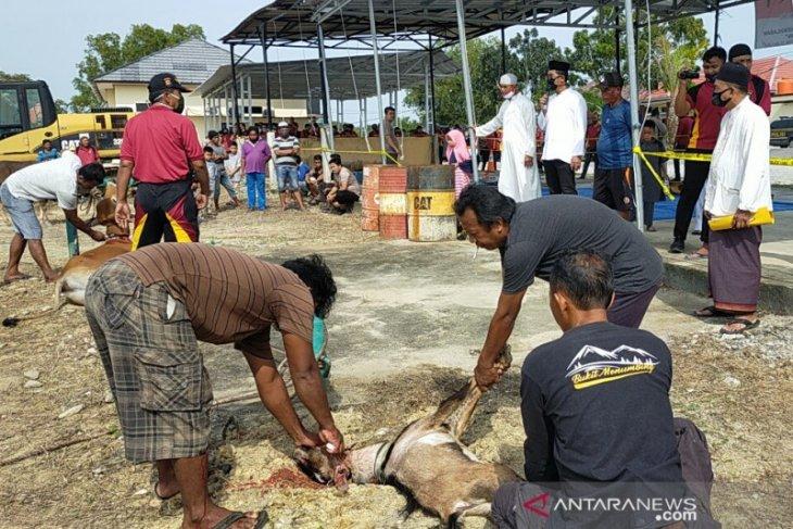 Polres Bangka Barat bagikan 731 paket daging kurban kepada warga