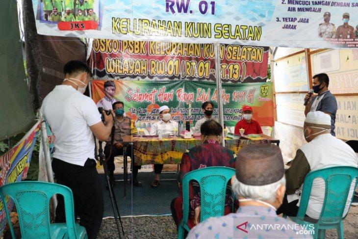 Wali Kota temui petugas Posko PSBK Kuin Selatan