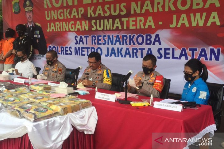 Jakarta police thwart attempt to transport 131-kg crystal meth