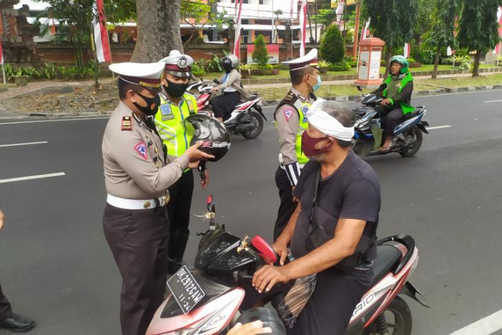 1.068 pelanggar lalu lintas ditindak Polresta Denpasar selama Operasi Patuh 2020