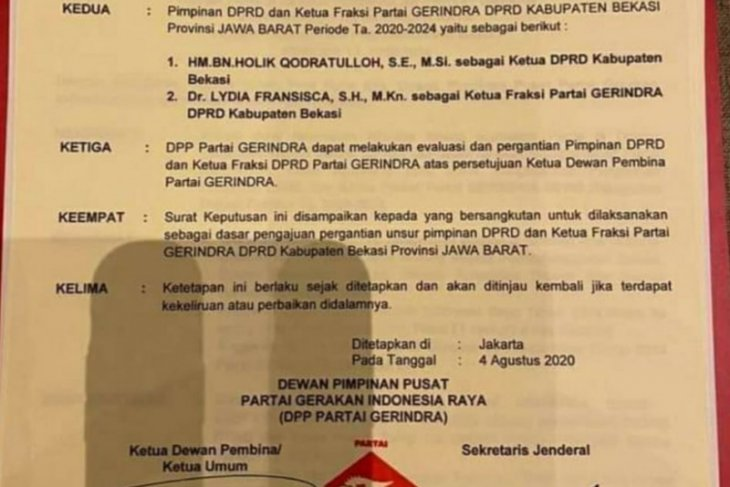 Ketua DPRD  Bekasi diganti?, simak beritanya
