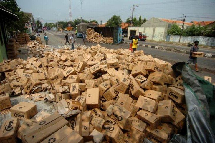 Kecelakaan truk di Tegal
