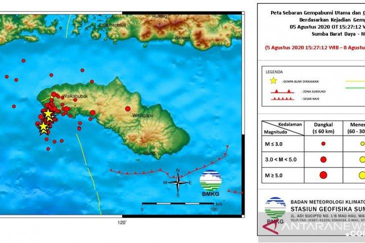 BMKG:  Rentetan gempa di Sumba tidak berpotensi tsunami