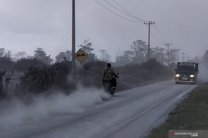 Mt Sinabung erupts for first time during COVID-19 pandemic
