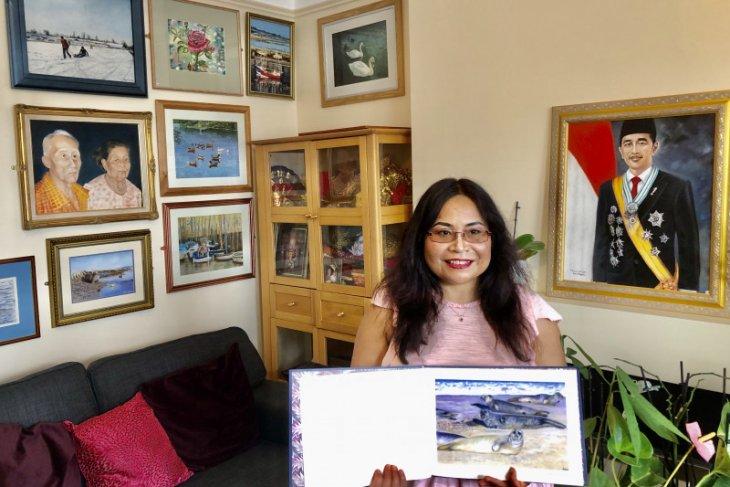 Pernah tinggal di Bali, Sunarni  pelukis yang sukses di Inggris