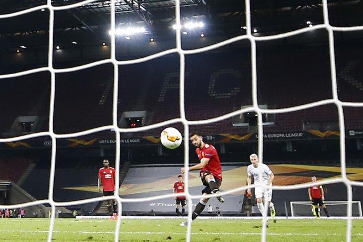 Liga Europa: Gol penalti Bruno Fernandes bawa Manchester United ke semifinal